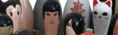 Crafted Bowling Pins by Bernice Lum